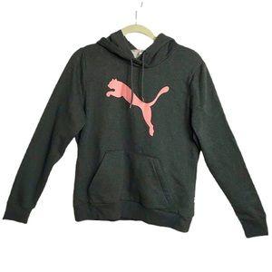 NWOT Puma Gray Hoodie Sweatshirt Kangaroo Pouch